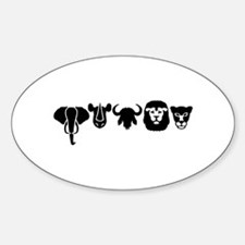Africa animals big five Decal