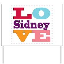 I Love Sidney Yard Sign