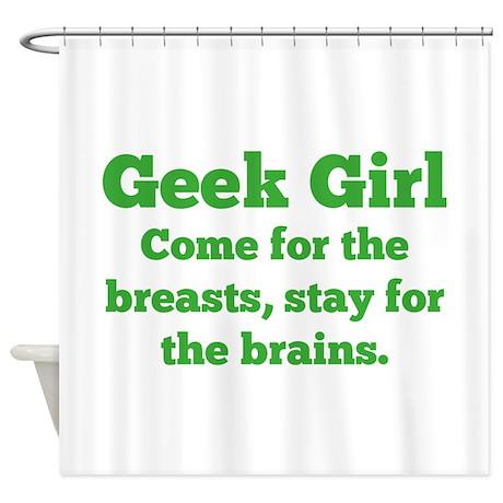 Geek Girl Shower Curtain