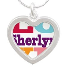 I Love Sherlyn Silver Heart Necklace