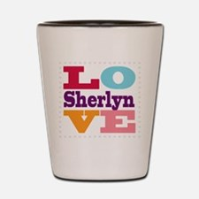 I Love Sherlyn Shot Glass