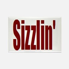 Sizzlin' Rectangle Magnet