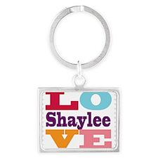 I Love Shaylee Landscape Keychain