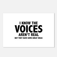 I Know The Voices Aren't Real Postcards (Package o