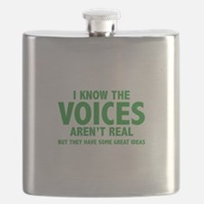 I Know The Voices Aren't Real Flask