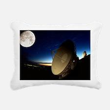 Radio telescopes - Rectangular Canvas Pillow
