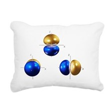 2p electron orbitals - Rectangular Canvas Pillow