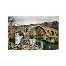 Medieval bridge in Asturias Rectangle Magnet