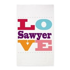 I Love Sawyer 3'x5' Area Rug