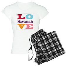 I Love Savanah Pajamas