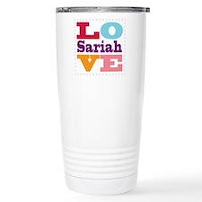 I Love Sariah Thermos Mug