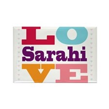 I Love Sarahi Rectangle Magnet