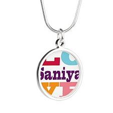 I Love Saniya Silver Round Necklace
