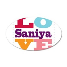 I Love Saniya Wall Decal