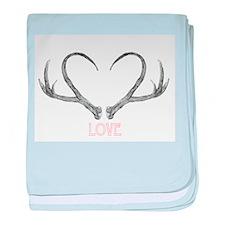 Antler Love baby blanket