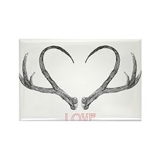 Antler Love Rectangle Magnet