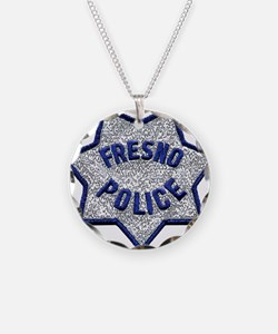 Fresno Police patch Necklace