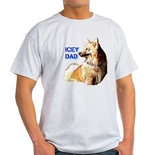 Icey dad for fathers day icelandic sheepdog T-Shirt
