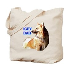 Icey dad for fathers day icelandic sheepdog Tote B