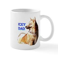 Icey dad for fathers day icelandic sheepdog Mug