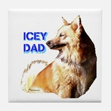 Icey dad for fathers day icelandic sheepdog Tile C