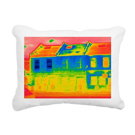 Houses, thermogram - Rectangular Canvas Pillow