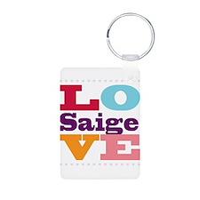 I Love Saige Keychains