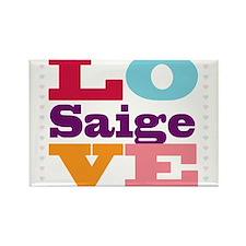 I Love Saige Rectangle Magnet