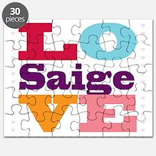 I Love Saige Puzzle