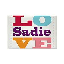 I Love Sadie Rectangle Magnet