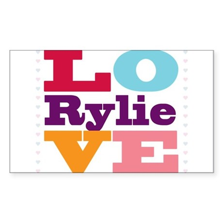 I Love Rylie Sticker (Rectangle)