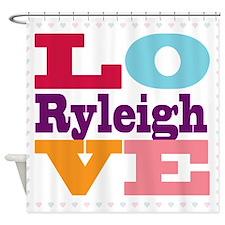 I Love Ryleigh Shower Curtain