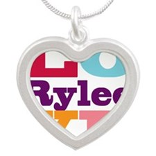 I Love Rylee Silver Heart Necklace
