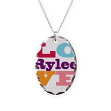 I Love Rylee Necklace Oval Charm
