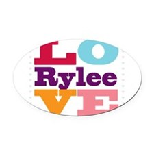 I Love Rylee Oval Car Magnet