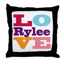 I Love Rylee Throw Pillow