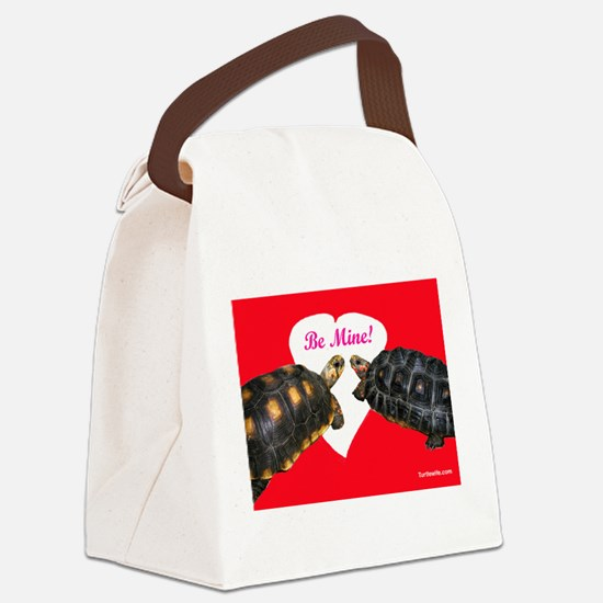Be Mine Redfoot Tortoises Canvas Lunch Bag