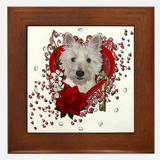 Valentines - Key to My Heart - Westie Framed Tile