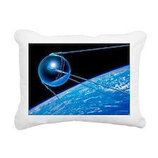 Sputnik 1 satellite - Rectangular Canvas Pillow