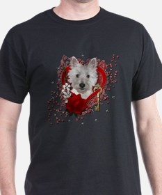 Valentines - Key to My Heart - Westie T-Shirt