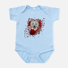 Valentines - Key to My Heart - Westie Infant Bodys