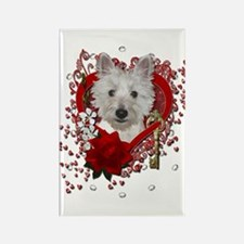 Valentines - Key to My Heart - Westie Rectangle Ma