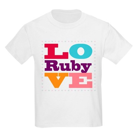 I Love Ruby Kids Light T-Shirt