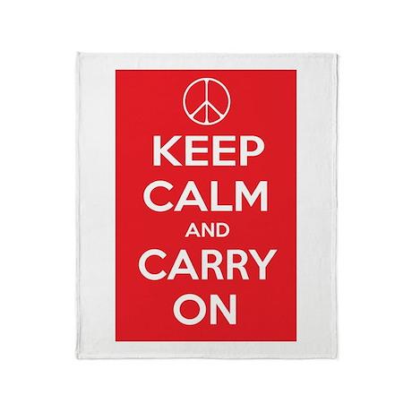 KEEP CALM Peace Sign Throw Blanket