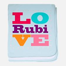 I Love Rubi baby blanket