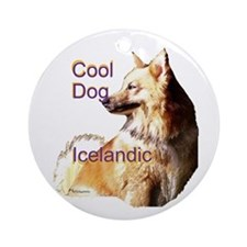 cool dog icelandic Ornament (Round)
