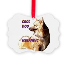 cool dog icelandic Picture Ornament