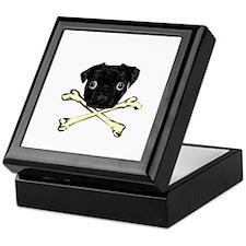 Pug and Crossbones Keepsake Box