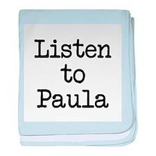 Listen to Paula baby blanket