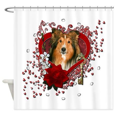 Valentines - Key to My Heart - Sheltie Shower Curt